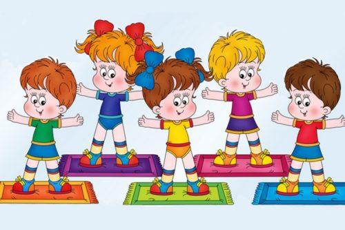 Зарядка для детей 3-4 лет в детском саду