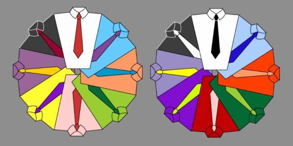 Сочетание цветов и узоров: таблица
