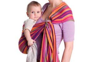 Как носить слинг с кольцами для новорожденных