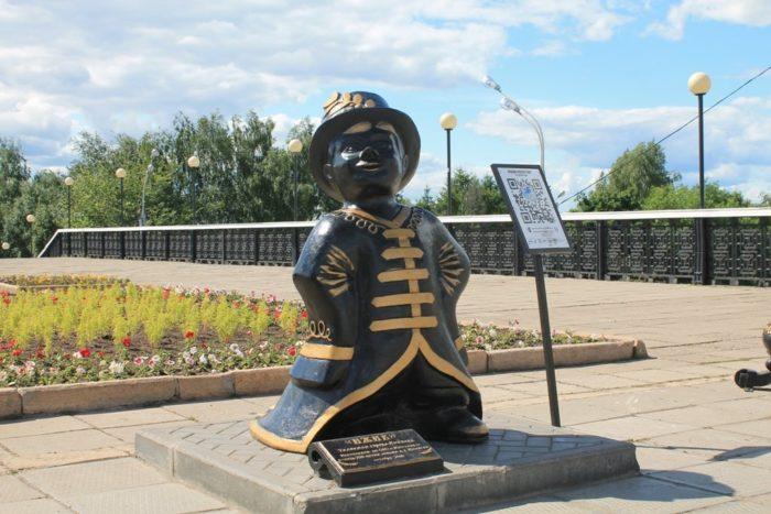 Памятник Ижику – талисману Ижевска