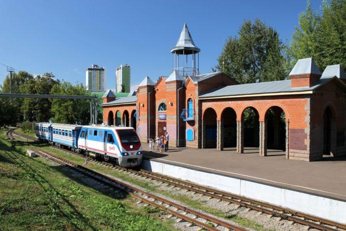 Детская железная дорога в парке имени Якутова