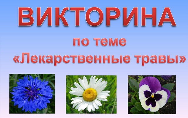 Викторина Лекарственные растения