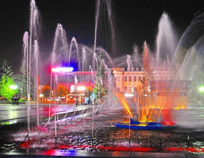 Фонтанная площадь в Пензе